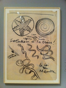 Le Corbusier had it all figured out. The solution to the crisis. The law of meandering. (Currently at MoMA.)